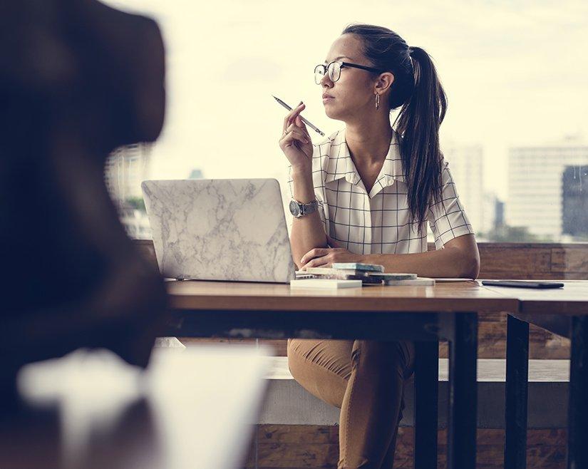 Woman thinking about coaching