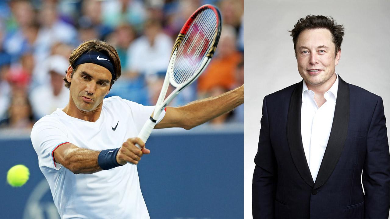 Elon Musk and Roger Federer